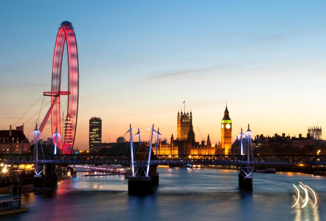 Výhledy z London Eye a z lanovky Emirates Airline