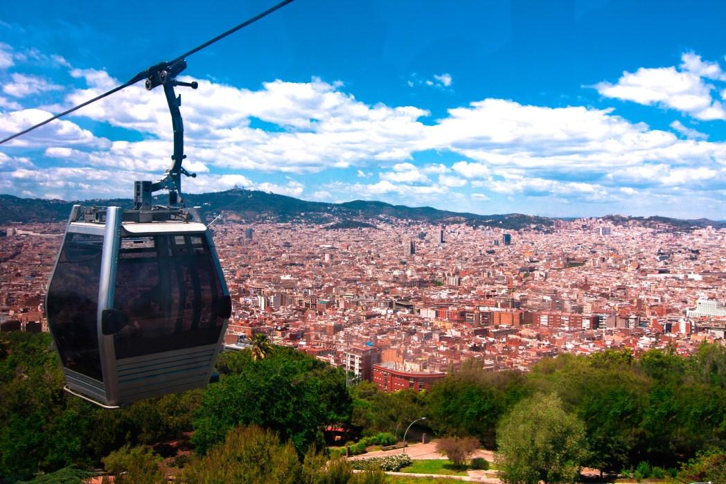 Nejlepší výhled v Barceloně - projeďte se lanovkou na kopec Montjuic